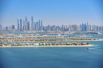 Dubai Marina, view from Palm Island.
