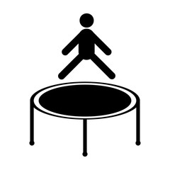 Jumping trampoline icon