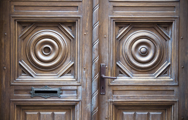 Old door of a manor house