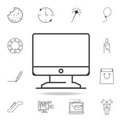 Computer monitor thin line icon. Detailed set of web icons and signs. Premium graphic design. One of the collection icons for websites, web design, mobile app