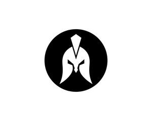 Spartan helmet vector icon