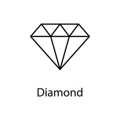 diamond icon. Element of web icon with name for mobile concept and web apps. Detailed diamond icon can be used for web and mobile. Premium icon