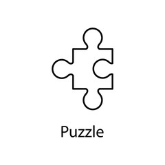 puzzle icon. Element of web icon with name for mobile concept and web apps. Detailed puzzle icon can be used for web and mobile. Premium icon