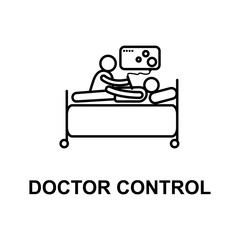 doctor control icon. Element of treatment with name for mobile concept and web apps. Thin line doctor control icon can be used for web and mobile. Premium icon