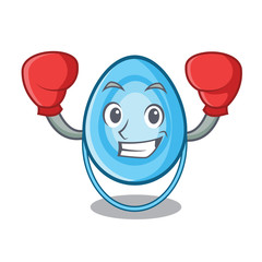 Boxing oxygen mask character cartoon