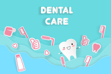 tooth with dental care