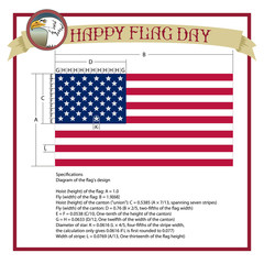 Happy Flag Day background template. Flag day banner or badge.Creative illustration,poster or banner of happy Flag Day