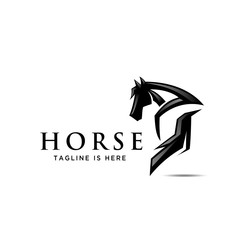 horse back, ass view back side horse logo