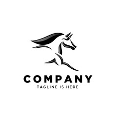 simple Fast speed horse logo
