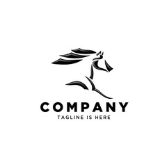 Fast speed horse logo