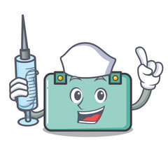 Nurse suitcase character cartoon style