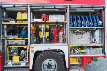 Ausrüstung eines technischen Feuerwehrfahrzeugs