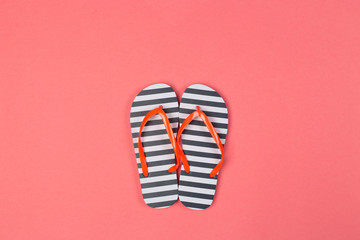 flip flops. Top view