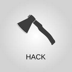 Hack icon. Hack symbol. Flat design. Stock - Vector illustration