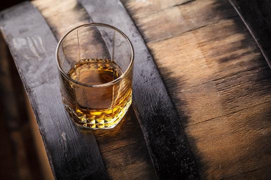 Whiskey on a barrel