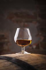Brandy on a barrel