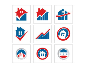 home architecture residence residential house housing real estate logo image vector icon