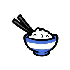 Cartoon Bowl of Rice