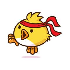 Cartoon Karate Bird