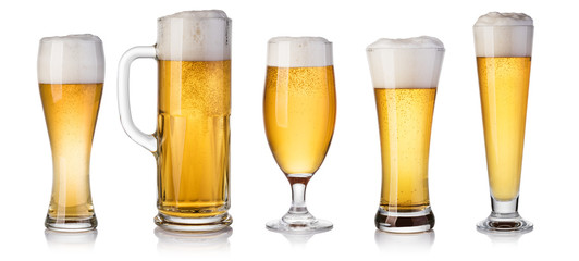 Photo sur Plexiglas Biere, Cidre set of beer Glass