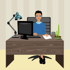 woman boss in the workplace
