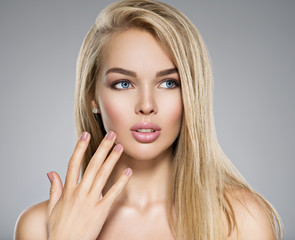 Young Woman with healthy skin of a face