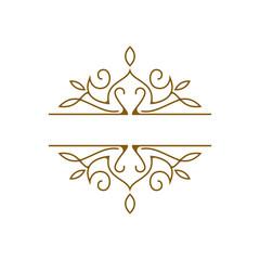 monogram frame logo template