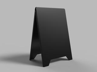 Blank plastic sandwich board. 3d render illustration.