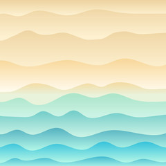 Tropical beach and wave blue sea background.