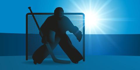 Hockey - Hockey sur Glace - gardien - but - sport - hiver - goal - défense - symbole - concept - équipe