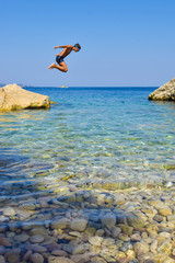 Jump into the sea.