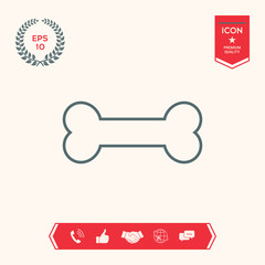 Bone line icon