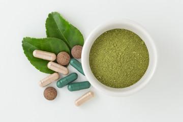Ground kaffir lime leaf herbal medicine