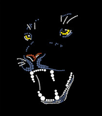 Grin of a black panther