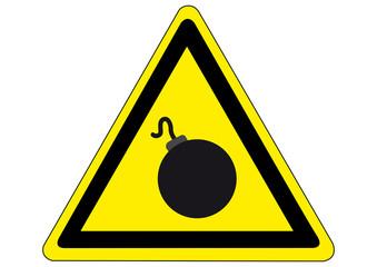 Schild Gefahr durch Sprengstoff