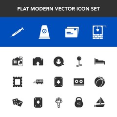 Modern, simple vector icon set with upload, water, furniture, boat, document, frame, poker, transport, border, cleaner, road, map, sign, bedroom, remove, equipment, bus, account, housework, toy icons