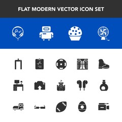 Modern, simple vector icon set with cyborg, modern, home, casino, android, food, medicine, cardiology, photo, heart, table, work, office, scan, machine, technology, toy, sign, plastic, boot, fan icons