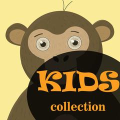 poster Frame For Kids with little monkeys