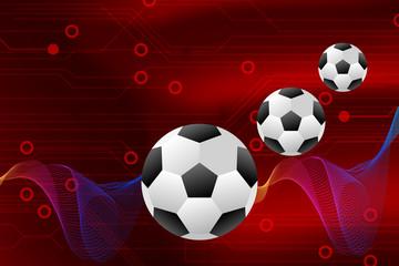 football logo design graphics soccer on red background vector illustratio
