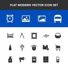 Modern, simple vector icon set with border, art, school, tie, people, image, japanese, hammer, fashion, frame, repair, object, chinese, phone, transportation, glass, photo, time, instrument, bed icons