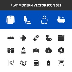 Modern, simple vector icon set with ink, couple, child, health, kid, baby, clean, bath, wedding, clothing, fruit, internet, nature, oxygen, love, apple, bride, cylinder, browser, equipment, bird icons