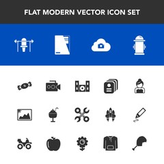 Modern, simple vector icon set with groom, love, safety, fire, dessert, service, sport, home, department, image, cinema, water, sweet, food, cloud, technology, ice, speaker, bride, id, handle icons