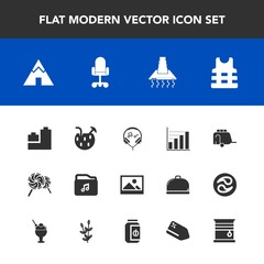 Modern, simple vector icon set with hood, art, play, camp, adventure, transportation, business, ball, frame, juice, bear, toy, transport, modern, cocktail, summer, train, background, music, data icons