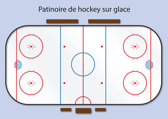 Hockey - Hockey sur Glace - patinoire - terrain - but - sport - hiver - goal - équipe - champion