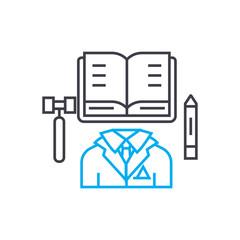 Executive Director vector thin line stroke icon. Executive Director outline illustration, linear sign, symbol isolated concept.