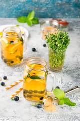 Orange Blueberry Detox Water