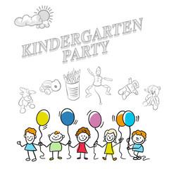Kindergarten party marketing cover