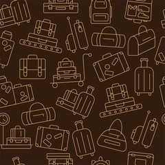 Seamless pattern with luggage.