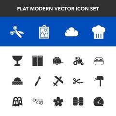 Modern, simple vector icon set with double, tool, image, sunrise, tank, van, farm, vehicle, motorcycle, sun, plane, sunset, transportation, brush, helmet, paint, oxygen, bed, airplane, bedroom icons