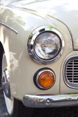 Close up of headlight retro car